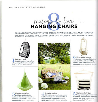 Tranquillity Fan Back in Country Homes & Interiors May 2017