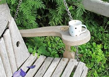 Swing Seat Arm with Cup Holder