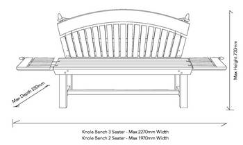 3 Seater Bench Dimension Measurements