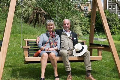 Celia & Martin on our Yakisugi at Raymond Blanc's Jardin Blanc