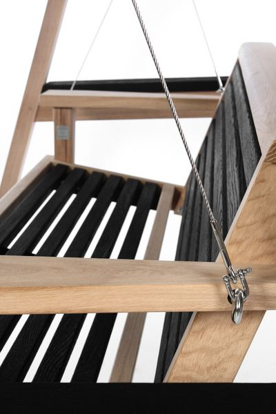 Garden Swing Seat Close Up Yakisugi