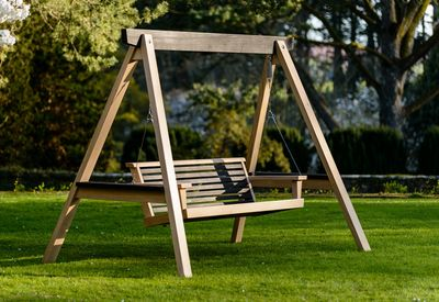 Garden Swing Seat Contemporary Yakisugi
