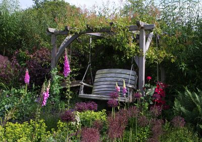 Pergola with Red Clematis