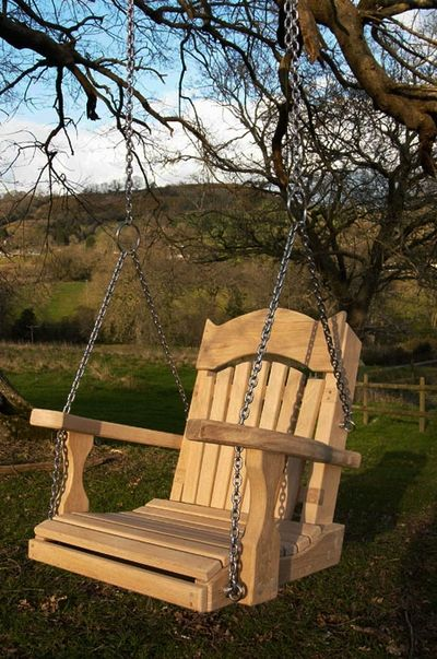 Single Wooden Swing