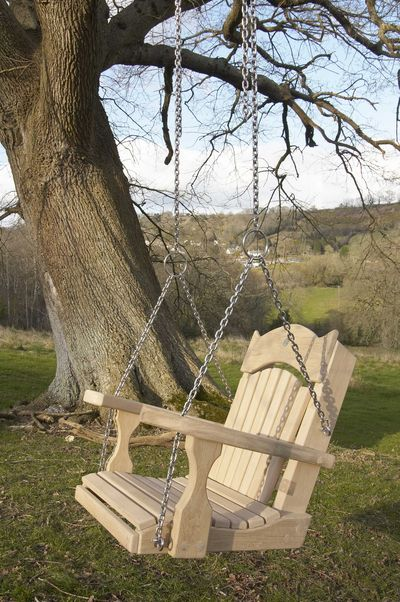 Swing Seat From Tree Sitting Spiritually Tranquillity Fan Back