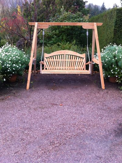 Tranquillity Garden Furniture Swing Seat at RHS Rosemoor