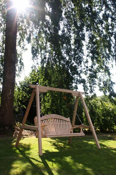 Tranquillity Oak Fan Back Garden Furniture Swing Seat