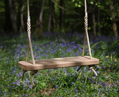 Wooden Rope Swing Single Uncarved