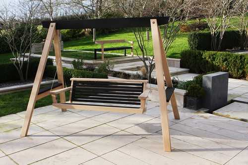 The Yakisugi Swing Seat & Floating Bench