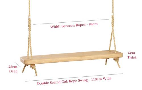Two seat, garden rope swing