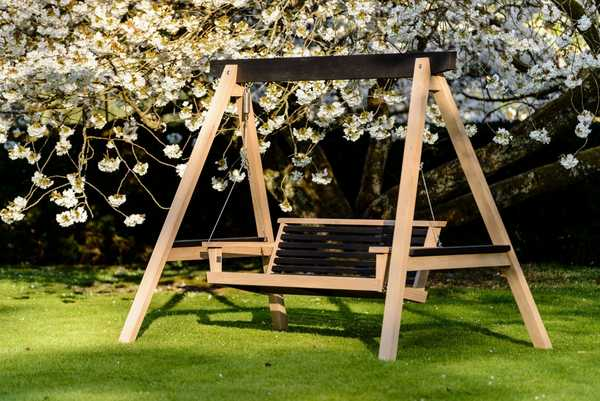 Yakisugi 2 Seater Swing Seat and Frame