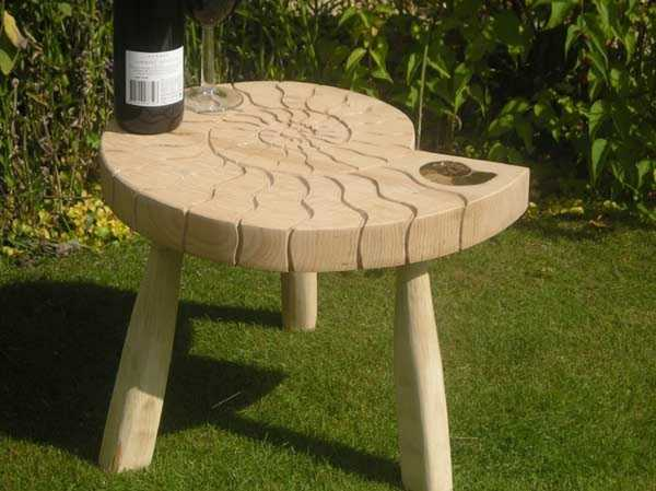 Ammonite Drink Table