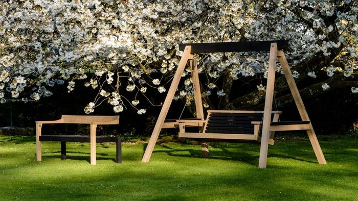 The Floating Bench & The Yakisugi Swing Seat