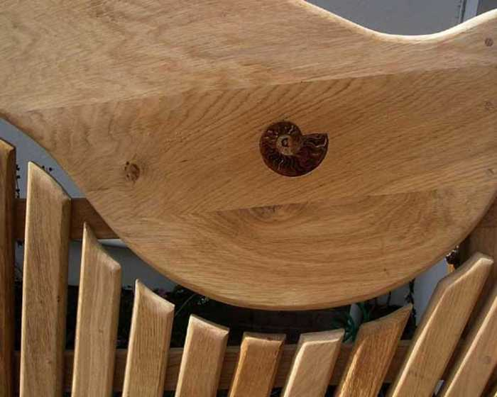 Ammonites for Decoration - bespoke wooden swing seat