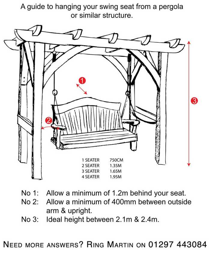 Swing seat and pergola assembly