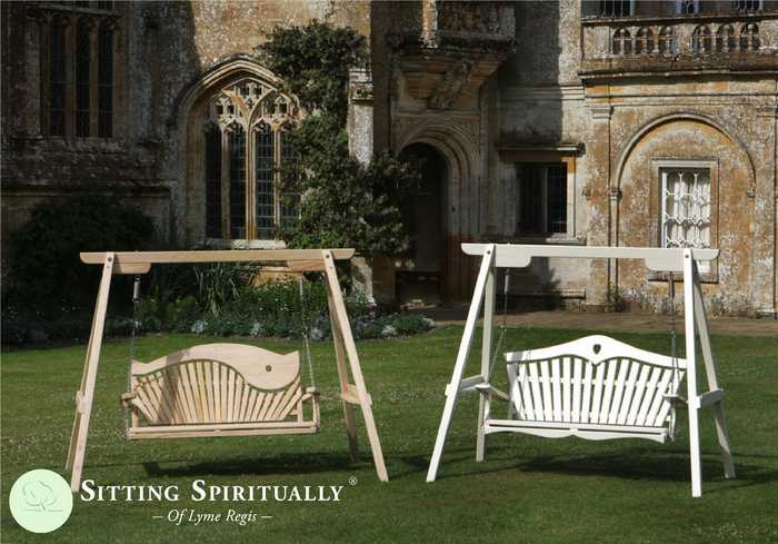 Two Garden Swing Seats at Forde Abbey