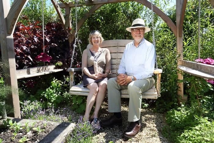 Celia & Martin Young in the Sitting Spiritually Garden
