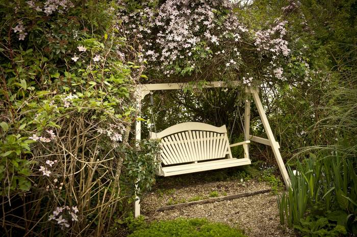 Harmony Swing Seat, now 16 years old, in The Sitting Spiritually Garden