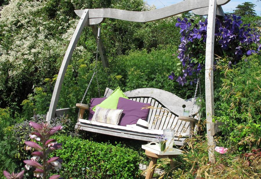 Swing Seat featured in a Garden