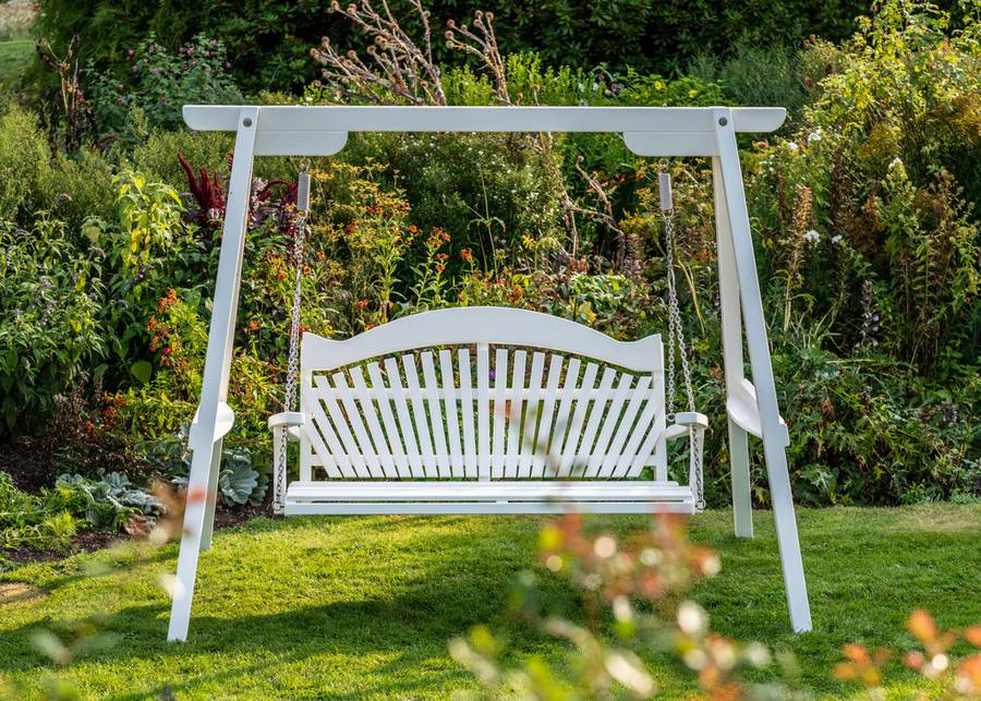 Painted Garden Swing Seat in Pine