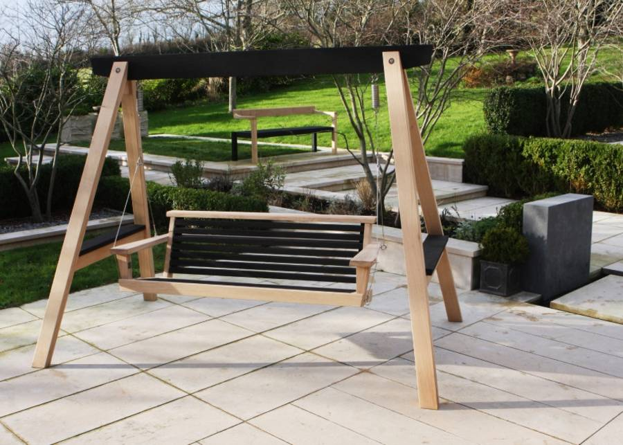 Yakisugi Swing Seat Contemporary Garden Swing