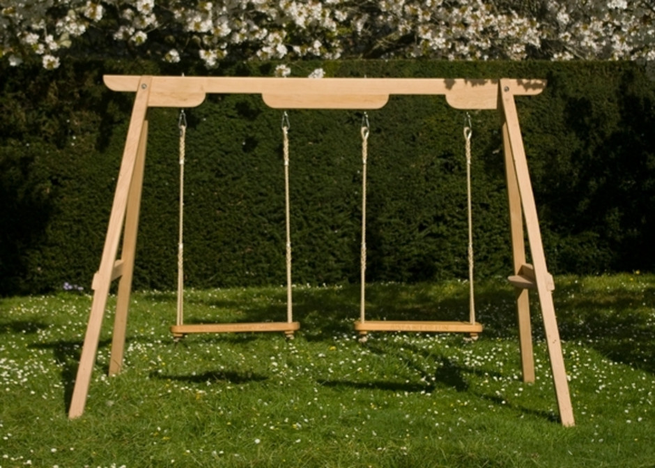 Wooden Garden Swings For Children And Adults Sitting Spiritually