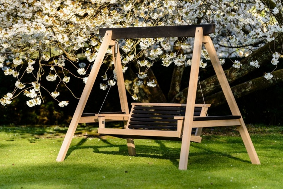 Contemporary Garden Swing Seat Sitting Spiritually