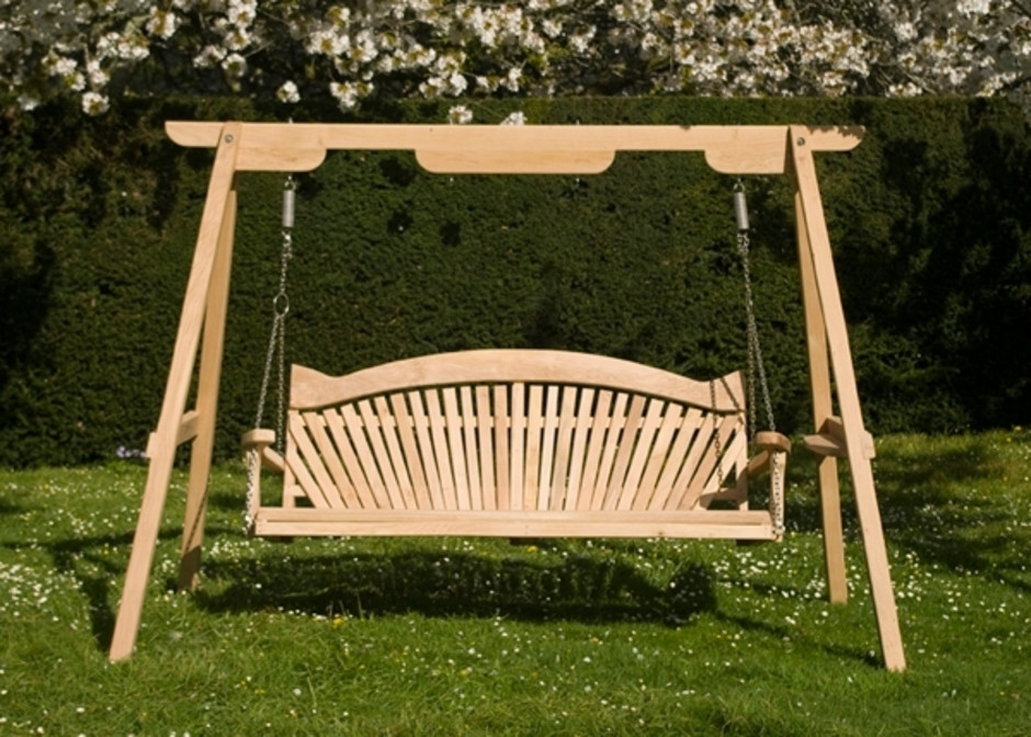 Wooden garden swings for children and adults sitting for How to make wooden swing seat