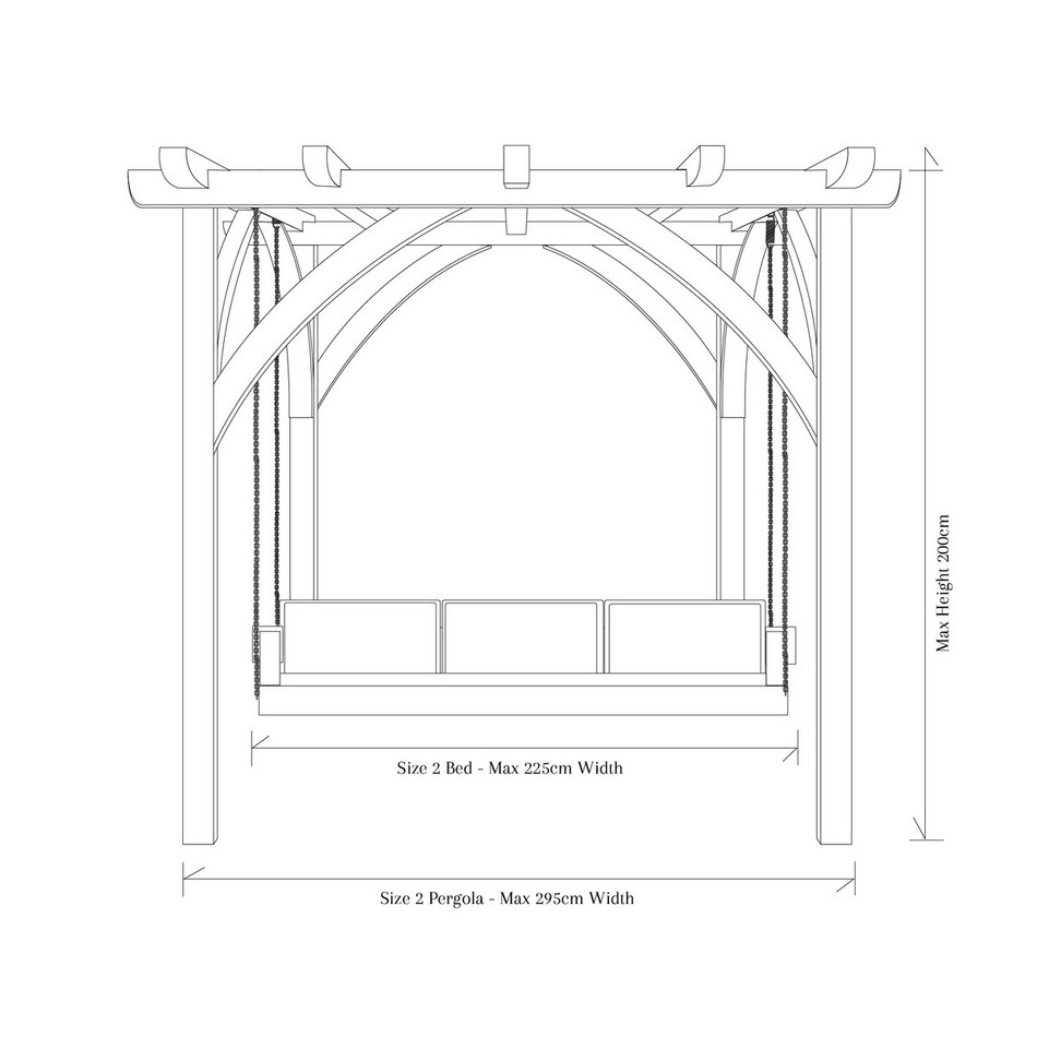 Outdoor Swinging Day Bed Sitting Spiritually Sizes Diagram Dimensions