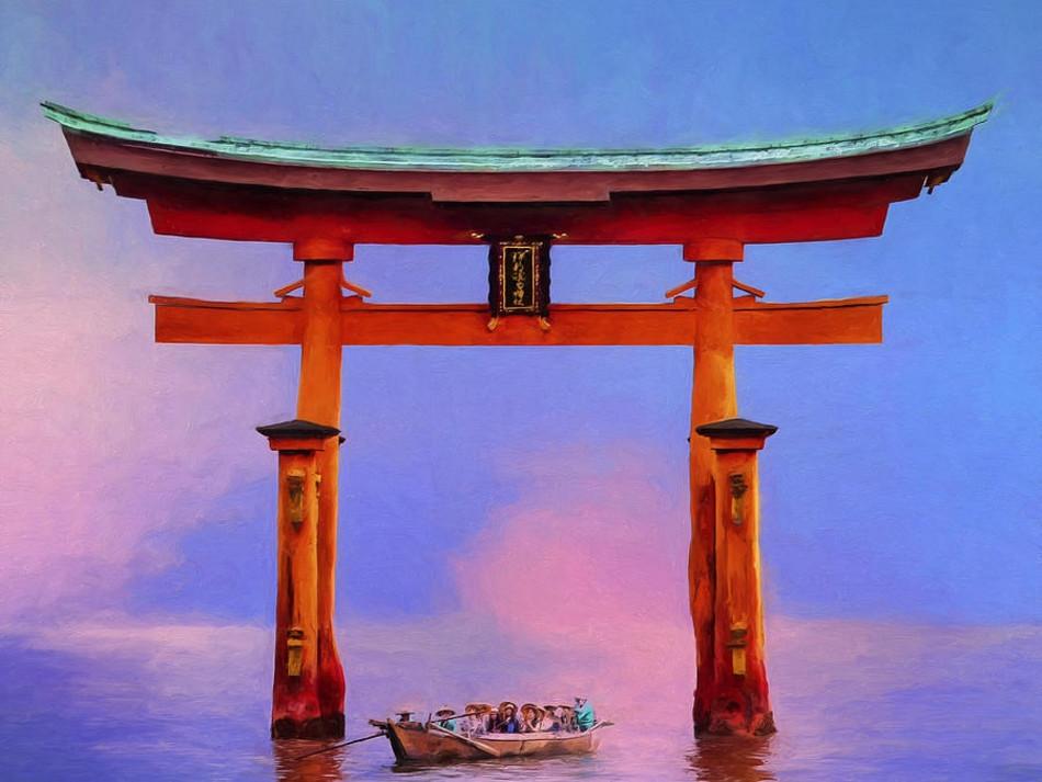 torii gate drawing - 900×675