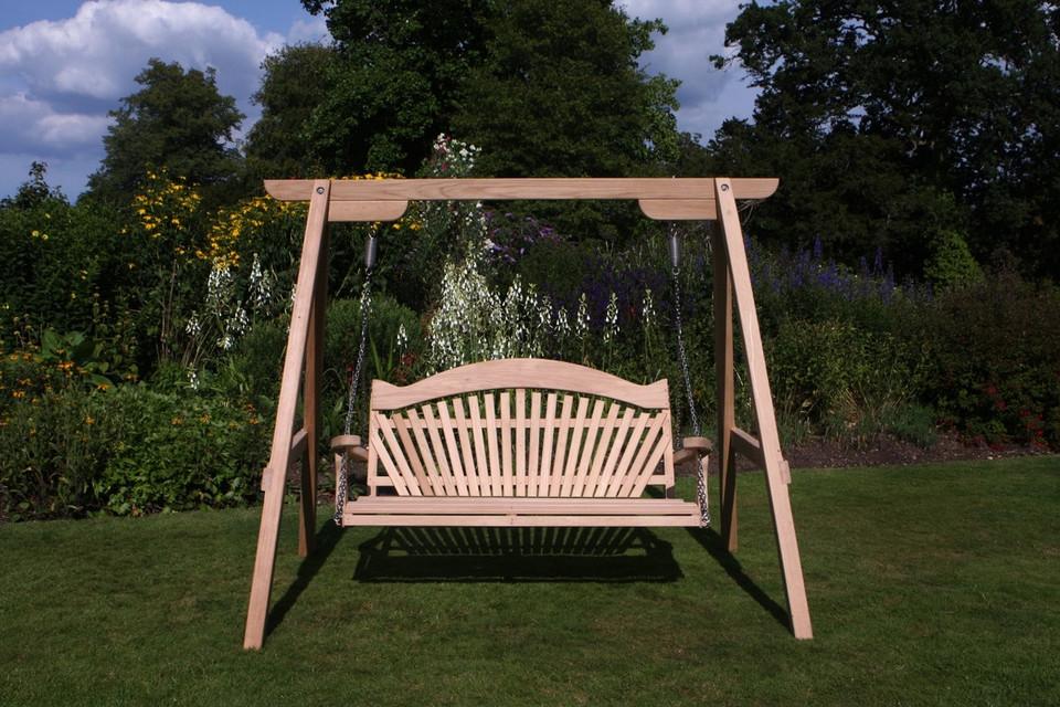 Garden Swing Seat Tranquillity Oak Buy Now Sitting