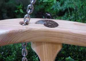 Ammonite in Cedar - swing seat