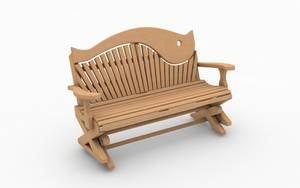 Bespoke garden swing seat - hand carved wood