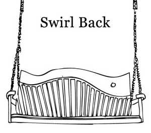 Carved wood swing seat