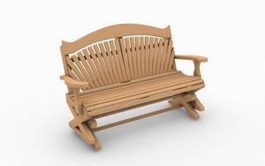Hand carved wooden garden swing seats