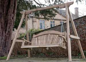 National Trust wood ageing process - swing seat