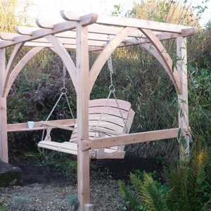 Newly Installed Pergola in the Sitting Spiritually Garden