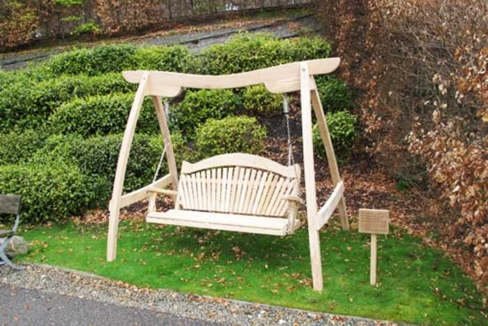 Oak swing seat and frame - Eden Project