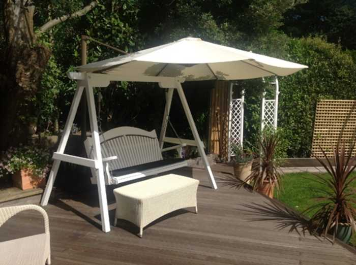 Shade solutions for garden swing seats by Sitting Spiritually