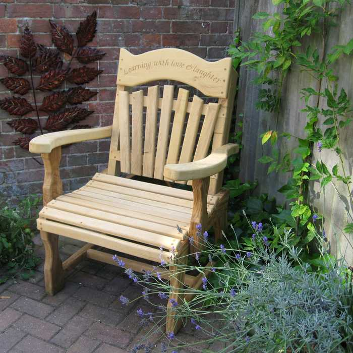 Sitting Spiritually Personalised Oak Chair