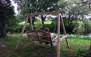 Swing Seat with beautiful natural outlook at RHS Garden Wisley