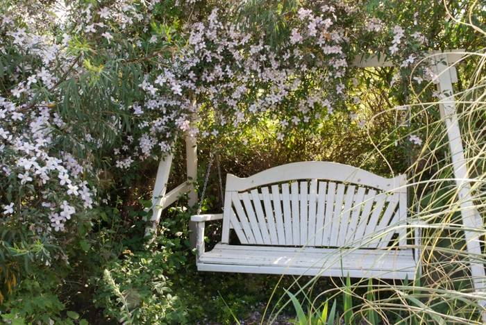 The first Sitting Spiritually Swing Seat, still in the garden to this day