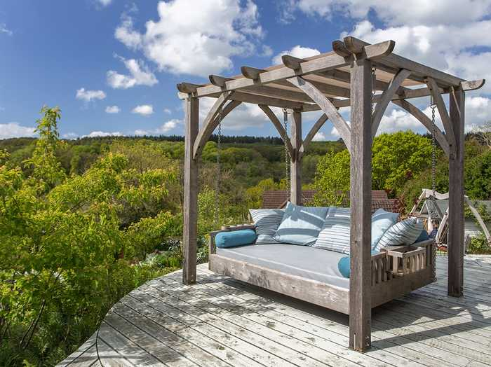 The Swinging Day Bed in the Sitting Spiritually Garden